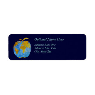 Earth Apple Return Address Label