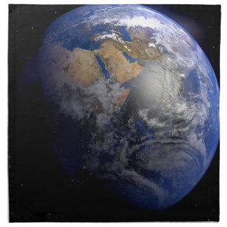 earth art blue napkin