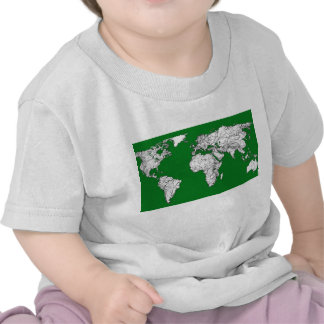 Earth atlas green tee shirt