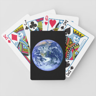 Earth Blue Marble Bicycle Playing Cards