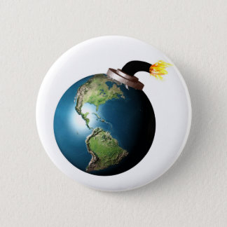 Earth bomb 2 inch round button