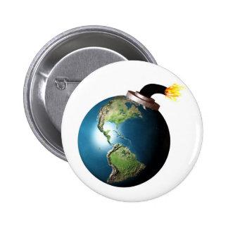 Earth bomb 2 inch round button