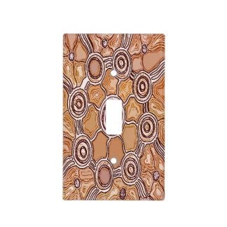 Earth Camps Aboriginal Light Switch Cover