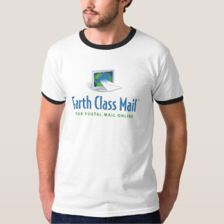 Earth Class Mail ringer tee white with black