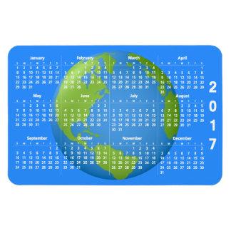 Earth Classic 2017 Calendar Rectangular Photo Magnet