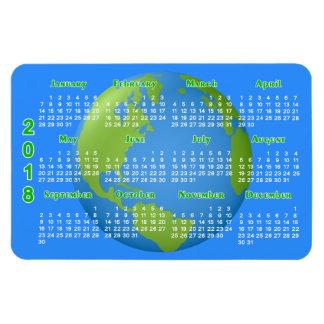 Earth Classic 2018 Calendar Rectangular Photo Magnet