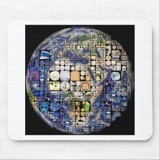 Earth Collage Art Mouse Pads