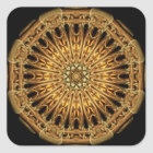 Earth Crystal Mandala Square Sticker