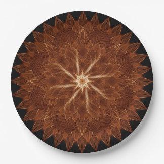Earth Curves Mandala 9 Inch Paper Plate