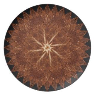 Earth Curves Mandala Party Plates