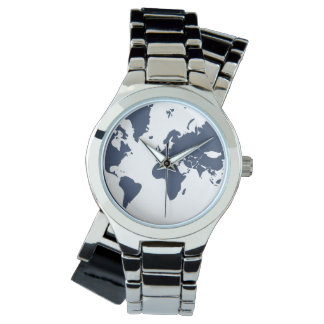 Earth / Custom Sporty White Silicon Watch