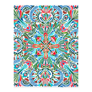 Earth daughter mandala pattern letterhead template
