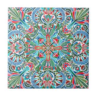 Earth daughter mandala pattern tile