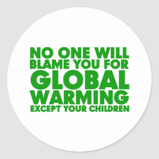 Earth Day 2009, April 22, Stop Global Warming Classic Round Sticker