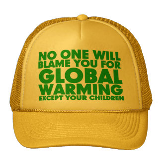 Earth Day 2009, April 22, Stop Global Warming Trucker Hats