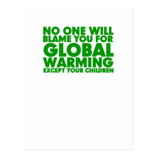 Earth Day 2009, April 22, Stop Global Warming Postcard
