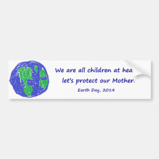 Earth Day 2014 Bumper Sticker