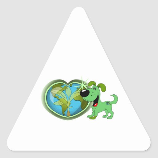 Earth Day and Leaf Triangle Stickers