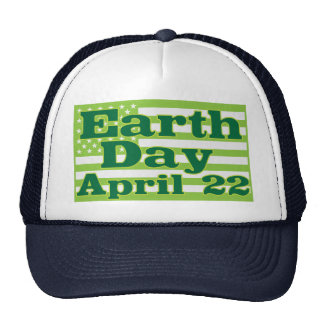 Earth Day April 22 Hat