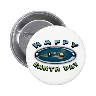 Earth day Badge Happy FLAT earth day Badge 2 Inch Round Button