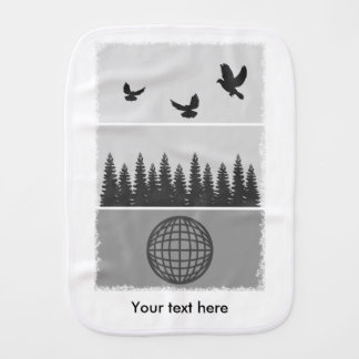Earth Day Black And White Burp Cloth
