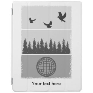 Earth Day Black And White iPad Cover