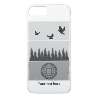 Earth Day Black And White iPhone 7 Case