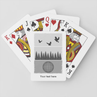 Earth Day Black And White Playing Cards