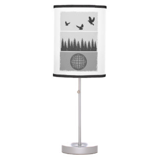 Earth Day Black And White Table Lamp