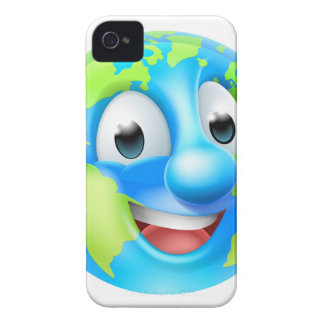 Earth Day Cartoon Character iPhone 4 Case