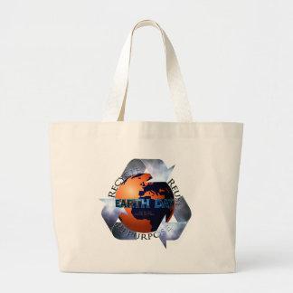 Earth Day Change The World Jumbo Tote Bag