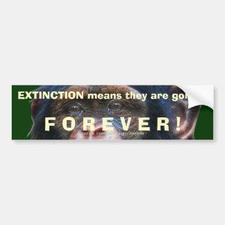 EARTH DAY CHIMPANZEE Extinction Bumper Sticker II