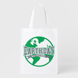 Earth Day Difference Reusable Grocery Bag
