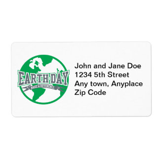 Earth Day Difference Shipping Label