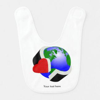 Earth Day Earth Love Bib