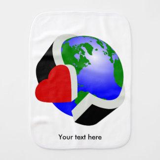 Earth Day Earth Love Burp Cloths