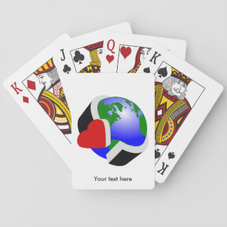 Earth Day Earth Love Playing Cards