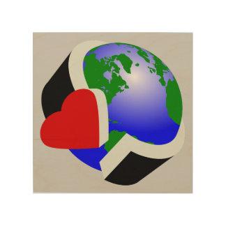 Earth Day Earth Love Wood Prints