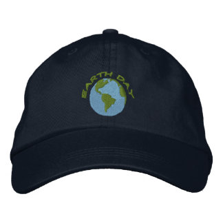 Earth Day Embroidered Hat