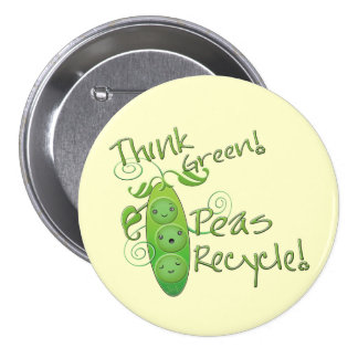 Earth Day Environmental 3 Inch Round Button