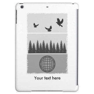 Earth Day Environmental Awareness Illustration Case For iPad Air