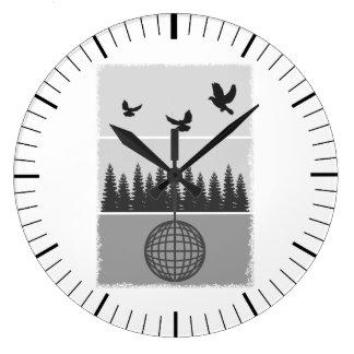 Earth Day Environmental Awareness Illustration Large Clock