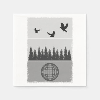 Earth Day Environmental Awareness Illustration Napkin