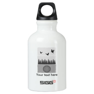Earth Day Environmental Awareness Illustration Water Bottle