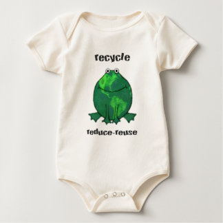 Earth Day Environmental Frog Baby Bodysuit