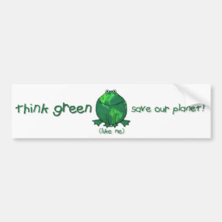 Earth Day Environmental Frog Bumper Sticker