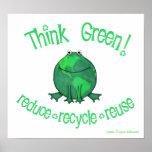 Earth Day Environmental Frog Print