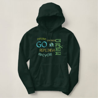 Earth Day Environmental Green Frog Recycle Hoodies