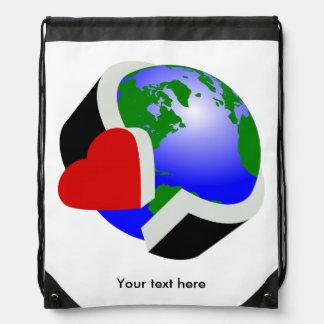 Earth Day Environmental Protection Drawstring Bag