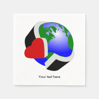 Earth Day Environmental Protection Paper Napkin